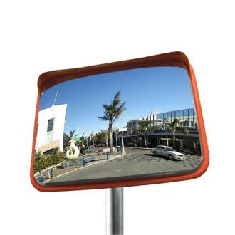 600x450mm Rectangular Stainless Steel Traffic Mirror