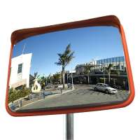 800x600mm Rectangular Stainless Steel Traffic Mirror