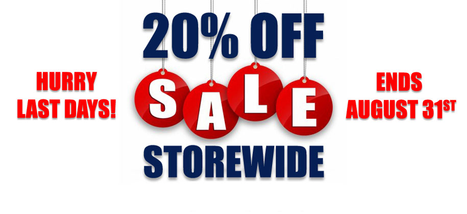 20 Percent Off Storewide August