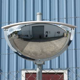 900x450mm Outdoor Two-Way Half Dome Mirror