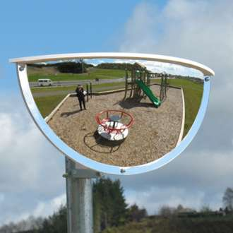 900x450mm Outdoor Two-Way Half Dome Mirror