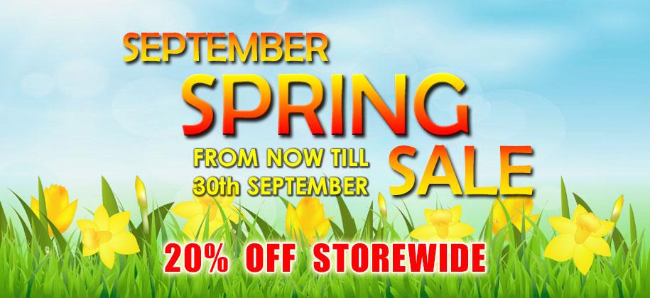 September Spring Sale