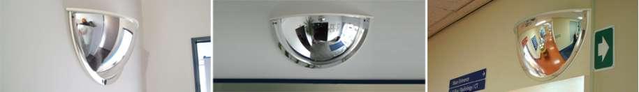 Indoor Deluxe Half Dome Mirrors