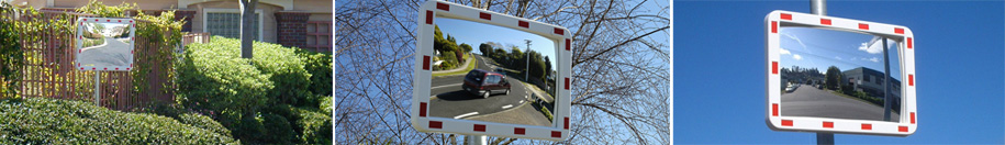 Rectangular Pro Series Traffic Safety Mirrors