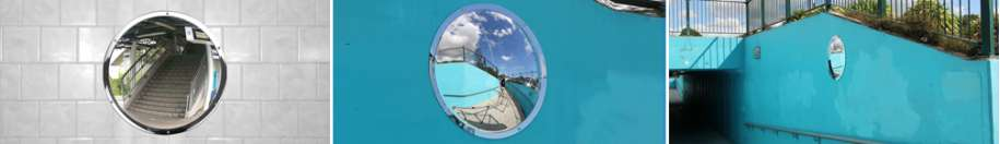 Outdoor Anti-Vandal Stainless Steel Wall Dome Mirror