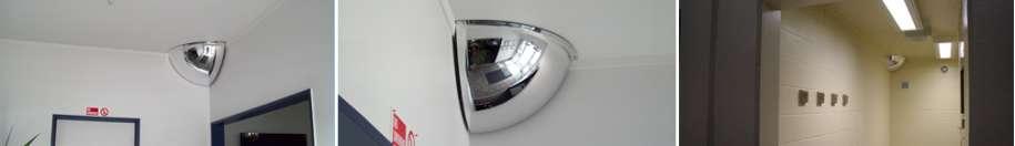 Indoor Quarter Dome Mirrors