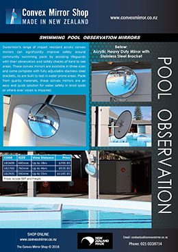 Swimming Pool Observation Mirrors Brochure